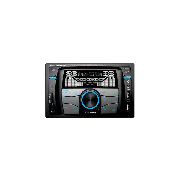 Majestic Autoradio Mechless SV-517 DAB+ BT/RDS/2xUSB/SD/AUX Nero