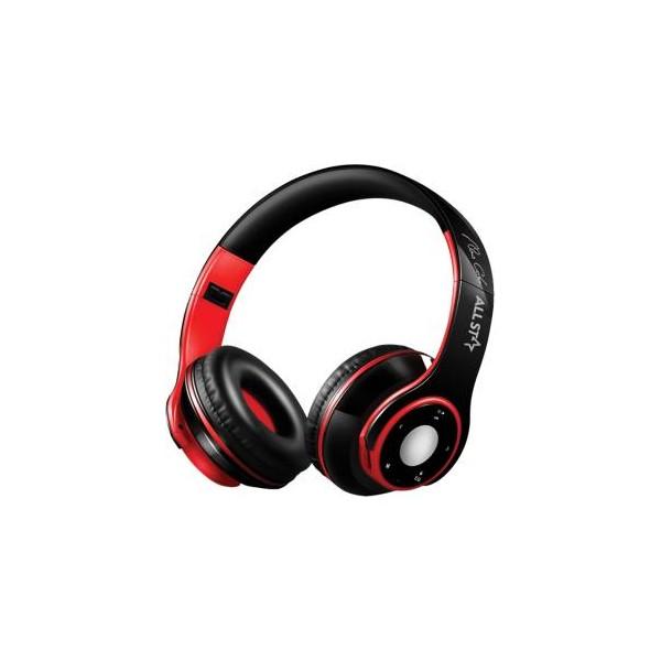 All Star Cuffie Bluetooth ASH-08GKX Nero-Rosso