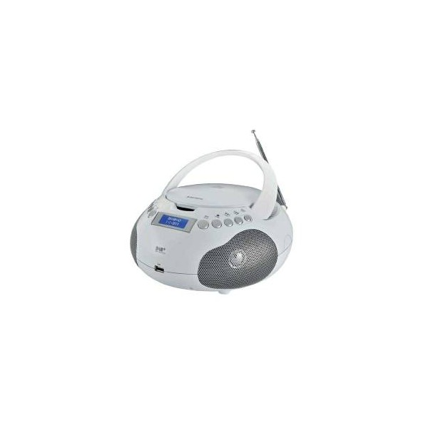 Audiola Boombox AH-256 Radio Dig. DAB/DAB+/CD/Mp3/USB/AUX-IN Bianca