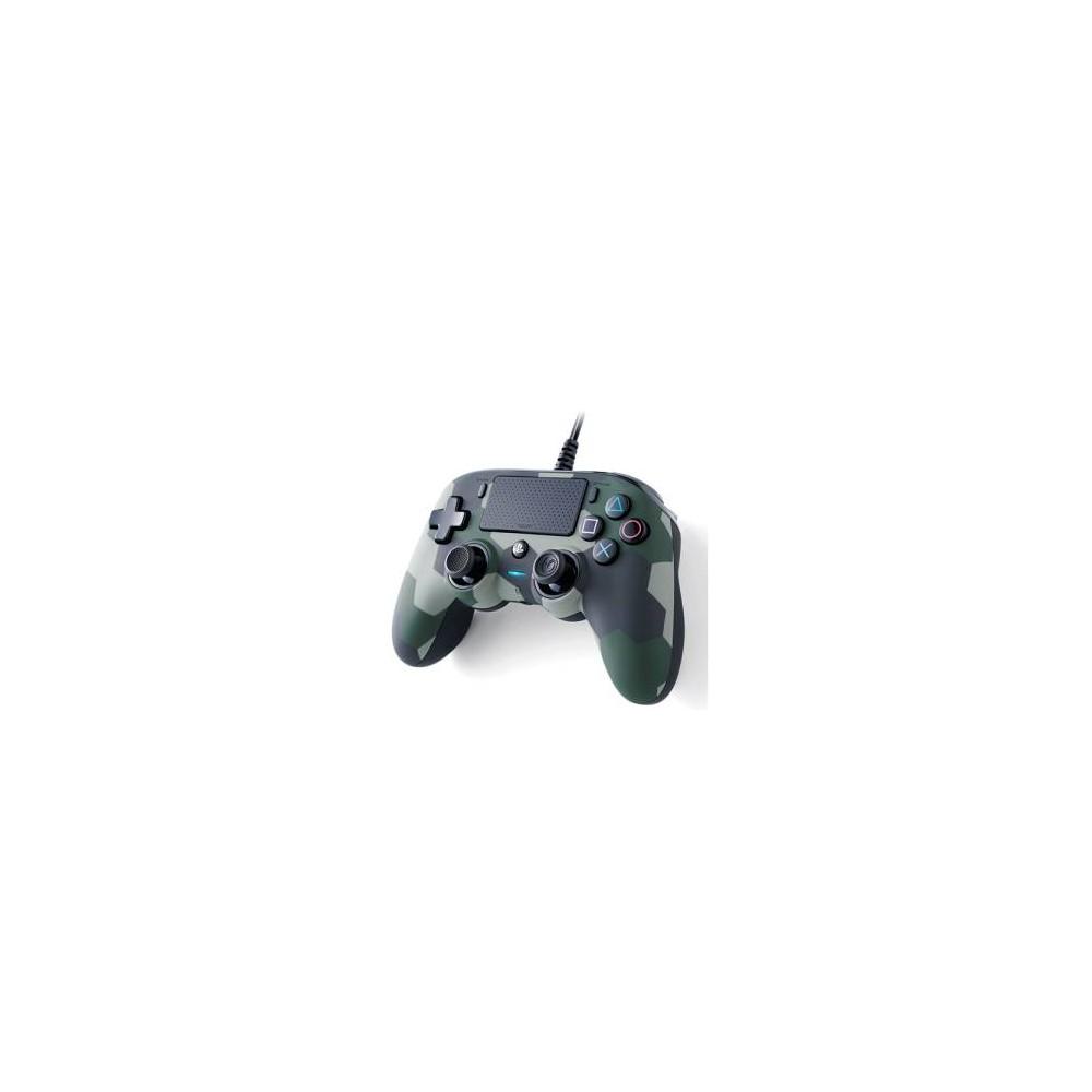 PS4 Nacon Wired Compact Controller Color Edition - Camo Green