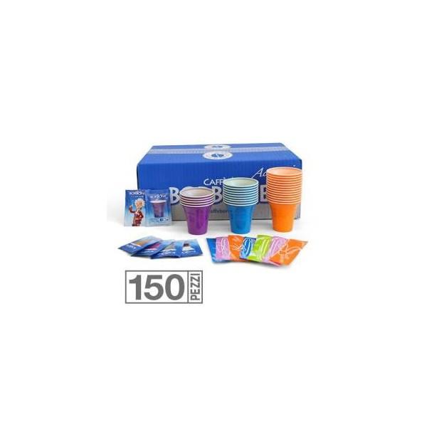 Borbone Kit Accessori 150pz Bicchierini + Bustine Zucchero + Palette