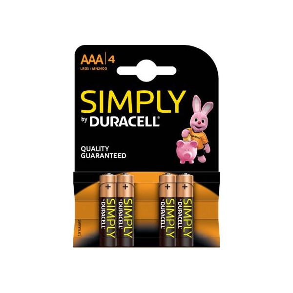 Duracell Simply Batterie MiniStilo Alcaline AAA 4pz