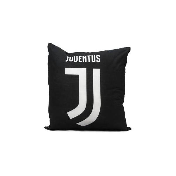 Hermet Cuscino Sagomato FC Juventus 40x40 Bianco/Nero Logo Bianco
